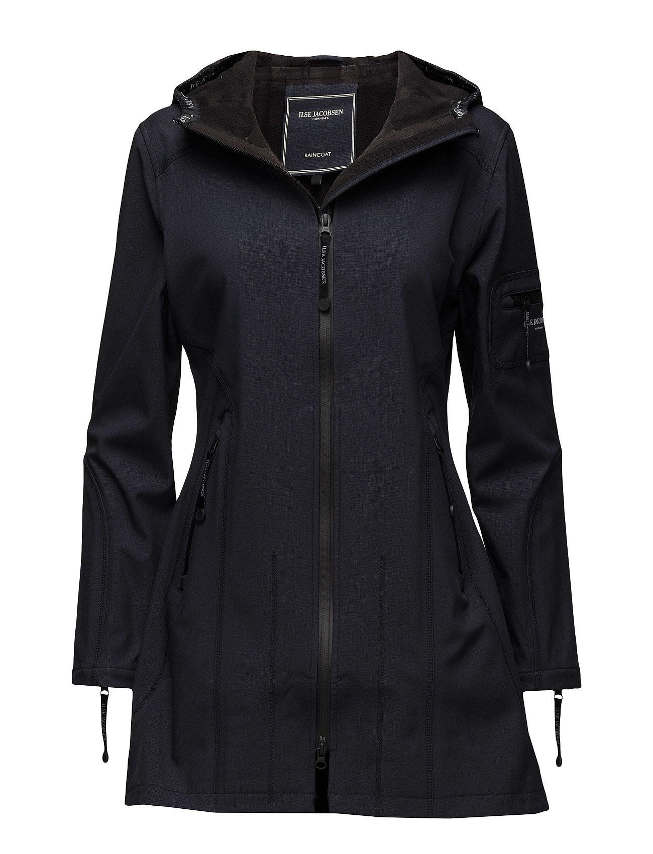 Image of Hip-Length Softshell Raincoat Regntøj Blå Ilse Jacobsen (2387044993)