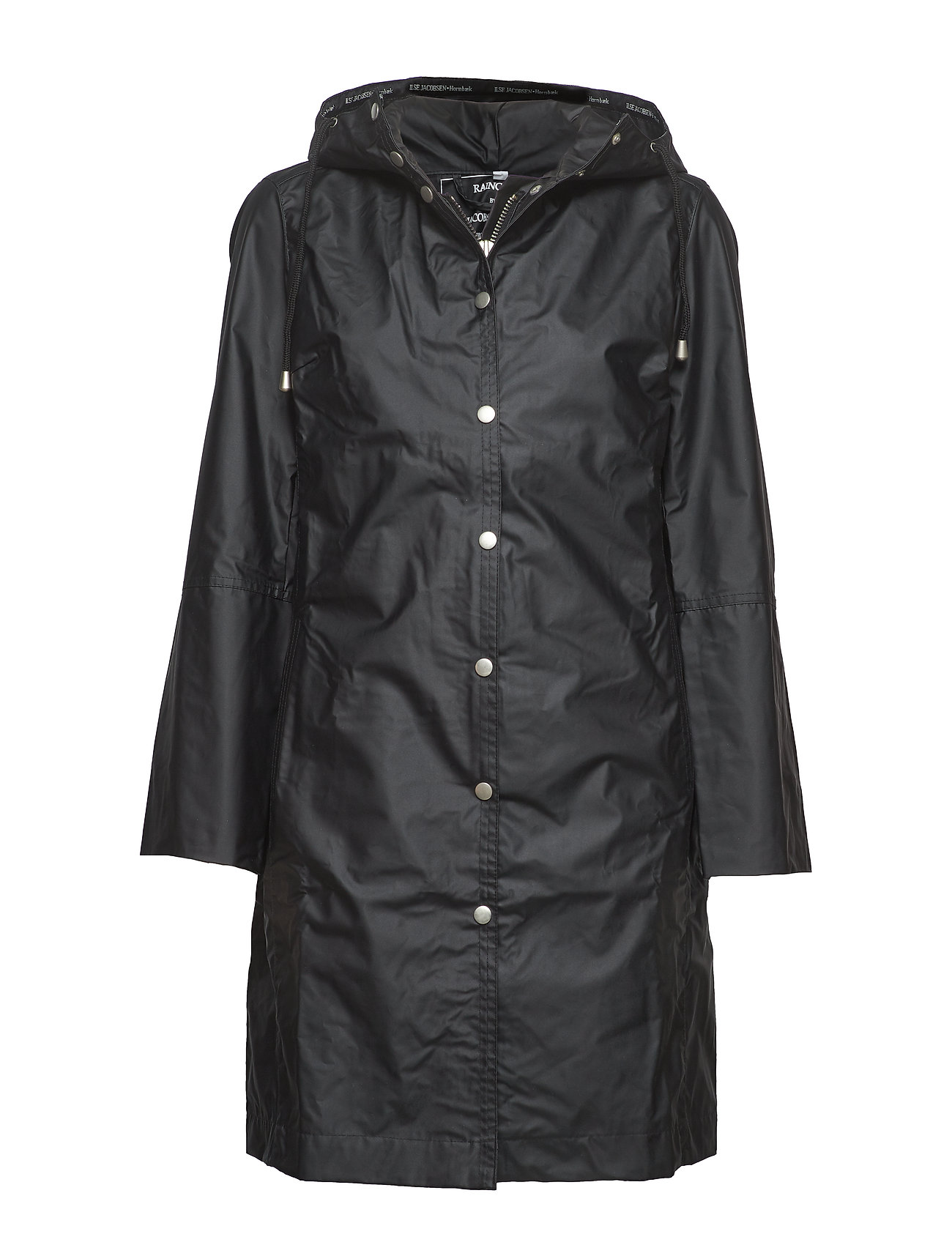 Ilse Jacobsen CLASSIC RAINCOAT WITH MATCHING HAT. - BLACK