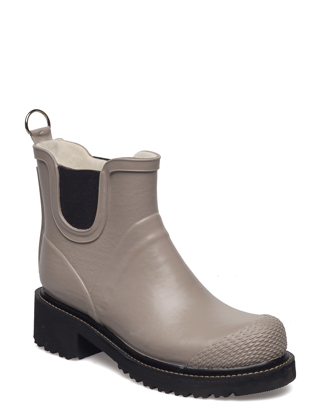 Image of Short Rub High Heel Shoes Boots Ankle Boots Ankle Boots Flat Heel Beige Ilse Jacobsen (2644463743)