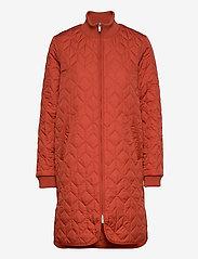 Ilse Jacobsen - Padded Quilt Coat - dynefrakke - brick red - 0