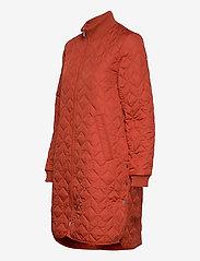 Ilse Jacobsen - Padded Quilt Coat - dynefrakke - brick red - 2