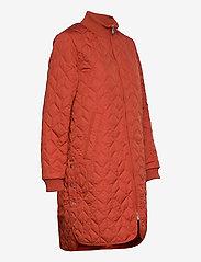 Ilse Jacobsen - Padded Quilt Coat - dynefrakke - brick red - 3