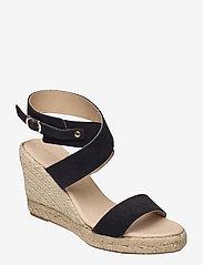 High heel espadrilles - BLACK