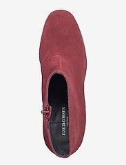 Ilse Jacobsen - SUEDE ANKLE BOOT - talon haut - red plum - 3