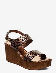 Ilse Jacobsen - WEDGES - sandales à talons - light chestnut - 0