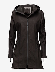 Ilse Jacobsen - HIP-LENGTH SOFTSHELL RAINCOAT - rainwear - black - 0