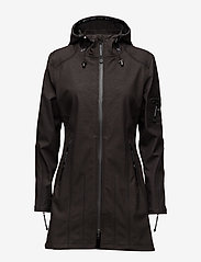 Ilse Jacobsen - HIP-LENGTH SOFTSHELL RAINCOAT - rainwear - black - 1