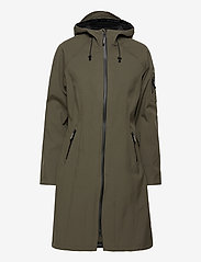 Ilse Jacobsen - LONG RAINCOAT - regntøj - army - 1