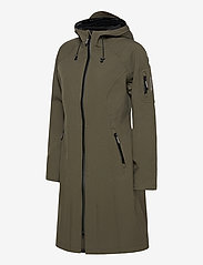 Ilse Jacobsen - LONG RAINCOAT - regntøj - army - 3