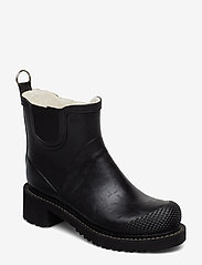 Ilse Jacobsen - SHORT RUB HIGH HEEL - flat ankle boots - black - 0