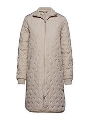PADDED QUILT COAT - CHATEAU GREY