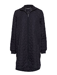 Padded Quilt Coat - DARK INDIGO