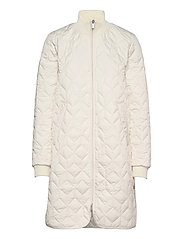 Padded Quilt Coat - MILK CREME