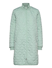 Padded Quilt Coat - SEA FOAM