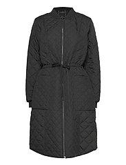 Padded Quilt Coat - BLACK