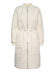 Padded Quilt Coat - MILK CREME