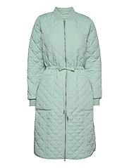 Padded Quilt Coat - SEA FOAM