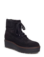 SUEDE ANKLE BOOT - 01 BLACK