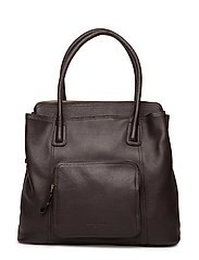 WOMENS LEATHER BAG - CHOCOLATE