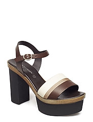 HIGH HEEL SANDAL - CHOCOLATE