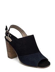 HEELED SANDAL - BLACK