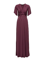 WOMENS LONG DRESS - EGGPLANT