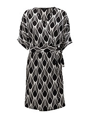 DRESS WRAP AROUND - BLACK