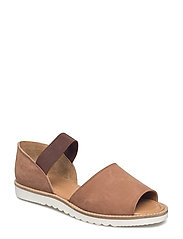 SUEDE SANDAL - CHOCOLATE