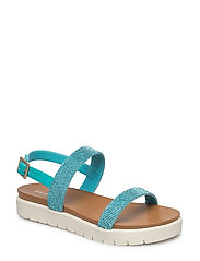 WOMENS SANDAL - 490 VIRIDAN GREEN MISTY ROSE