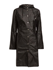 CLASSIC RAINCOAT WITH MATCHING HAT. - BLACK