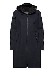 LONG RAINCOAT - DARK INDIGO