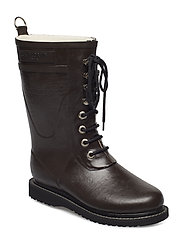 RAIN BOOT - MID CALF, CLASSIC WITH LACES - JAVA