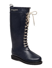 RAIN BOOT - LONG, CLASSIC WITH LACES - DARK INDIGO