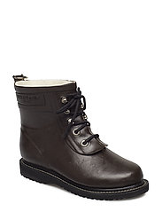 RAIN BOOT - ANKLE, CLASSIC WITH LACES - JAVA