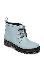 LACE-UP RUBBER BOOT - SLATE