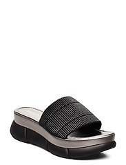 SLIP-ON SANDALS - BLACK