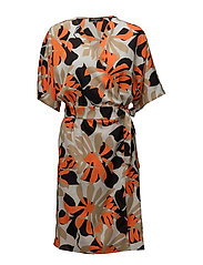 WRAP DRESS - CARROT