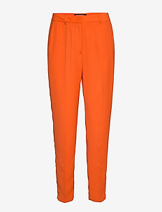 TROUSERS - pantalons droits - red orange
