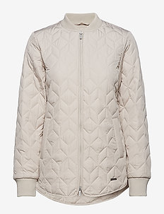 PADDED QUILT JACKET - CHATEAU GREY