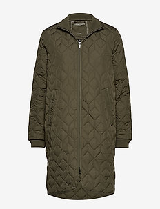 PADDED QUILT COAT - quiltede jakker - army