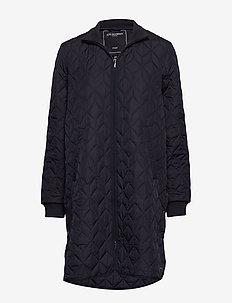 Padded Quilt Coat - dynefrakke - dark indigo