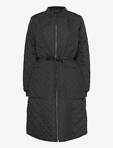 Padded Quilt Coat - dynefrakke - black