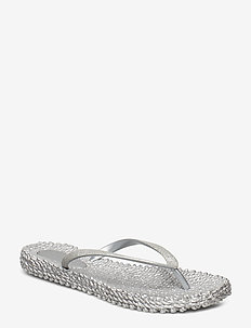 FLIPFLOP WITH GLITTER - silver
