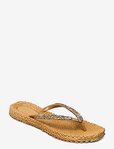 Flip flops with glitter - japonki - dijon