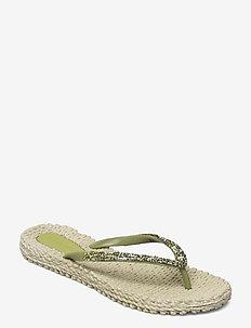 Flip flops with glitter - klip-klapper - moss