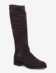 SUEDE BOOT - lange laarzen - 205 chocolate