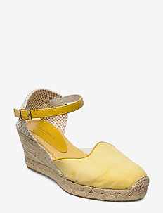 ESPADRILLE FLAT - heeled espadrilles - daffodil
