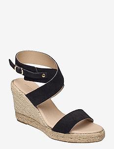 High heel espadrilles - højhælede espadrillos - black