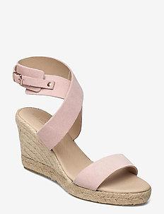 High heel espadrilles - højhælede espadrillos - pale blush
