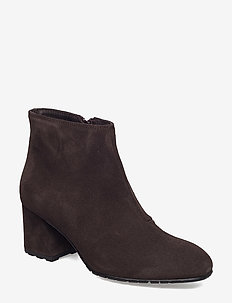 SUEDE ANKLE BOOT - talon haut - 200 brown